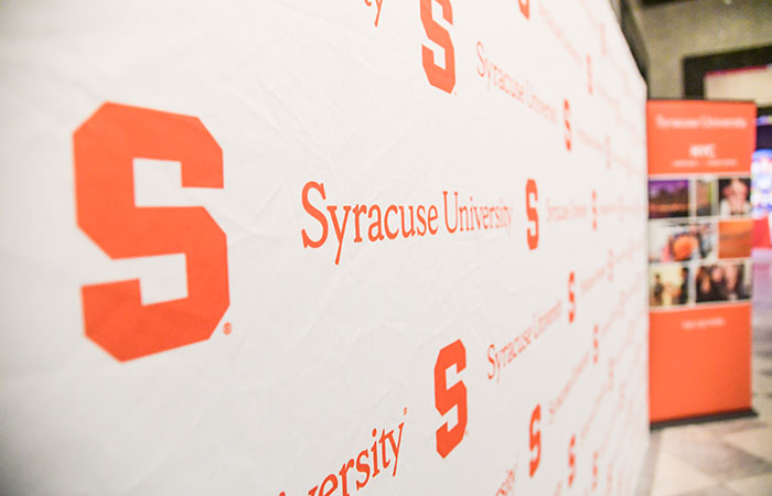Region event Syracuse University logo screen